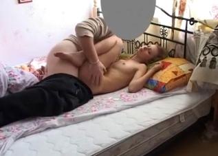 Choking on huge cock
