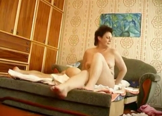 Chubby mommy fucks her son