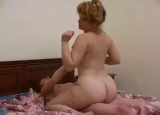 Thick mommy doggy style drilled by her son