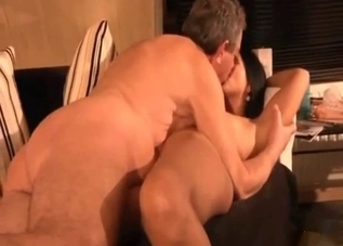 Busty brunette fucking her hung daddy