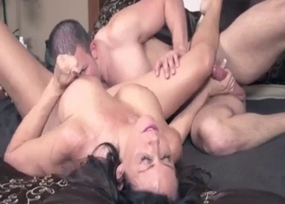 Dark-haired chick loves romantic incest