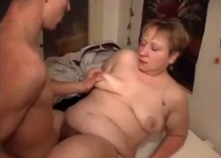 Busty and fat mommy licked by her sexy son