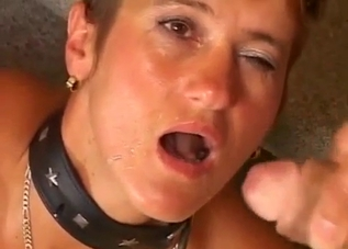Doggy style anal incest with a collared mommy