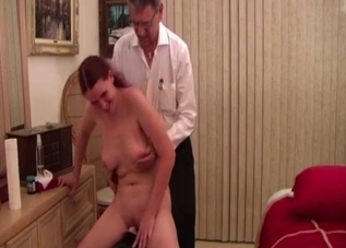 Big tits daughter enjoys her father's kinky touch
